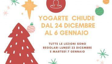 Yogarte va in vacanza dal 24 dicembre al 6 gennaio!!